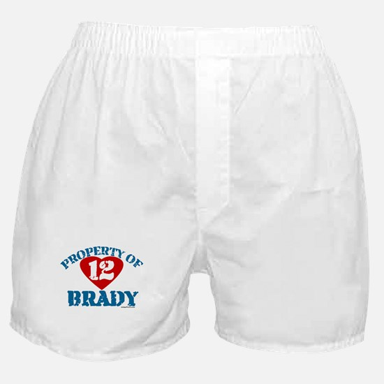 PROPERTY OF (12 heart) BRADY Boxer Shorts