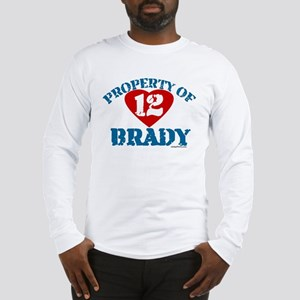 PROPERTY OF (12 heart) BRADY Long Sleeve T-Shirt