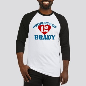 PROPERTY OF (12 heart) BRADY Baseball Jersey