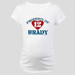 PROPERTY OF (12 heart) BRADY Maternity T-Shirt