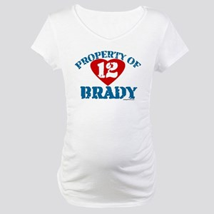 PROPERTY OF (12 heart) BRADY Maternity T-Shirt 585cd1018