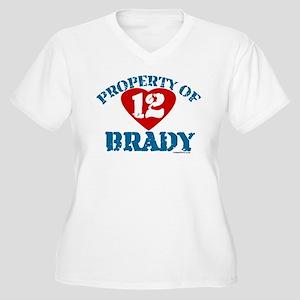 PROPERTY OF (12 heart) BRADY Women's Plus Size V-N