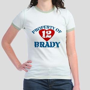 PROPERTY OF (12 heart) BRADY Jr. Ringer T-Shirt