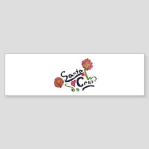 Santa Cruz nature logo Bumper Sticker
