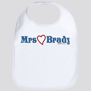 Mrs (heart) Brady Bib