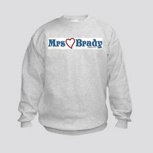 Mrs (heart) Brady Kids Sweatshirt