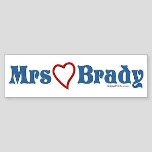Mrs (heart) Brady Bumper Sticker