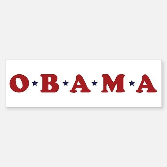 Obama (simple stars) Bumper Bumper Bumper Sticker