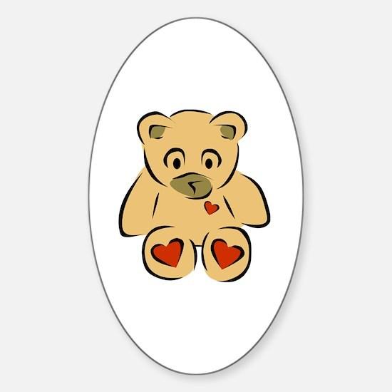 Cute Kids ted Sticker (Oval)