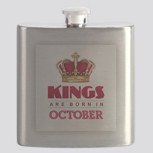 Kings are Born in October Flask
