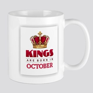 Kings are Born in October Mugs