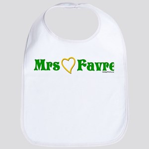 Mrs (heart) Favre Bib