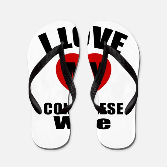 I Love My Congolese Wife Flip Flops