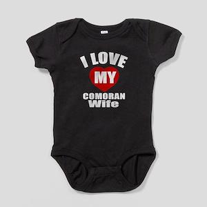 I Love My Comoran Wife Baby Bodysuit