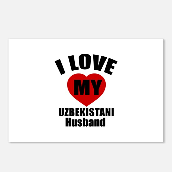I Love My Uzbekistani Hus Postcards (Package of 8)
