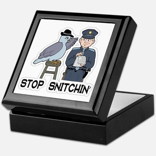 Unique Stop snitching Keepsake Box