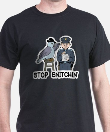 Funny Stop snitchin T-Shirt