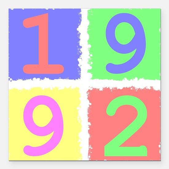 """1992 Square Car Magnet 3"""" x 3"""""""
