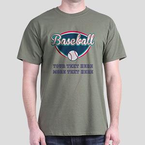 Custom Baseball Fan Dark T-Shirt