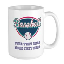 Custom Baseball Fan Large Mug
