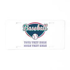 Custom Baseball Fan Aluminum License Plate