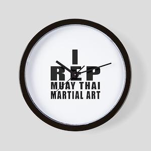 I Rep Muay Thai Martial Arts Wall Clock