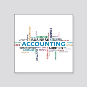 word cloud - accounting Sticker