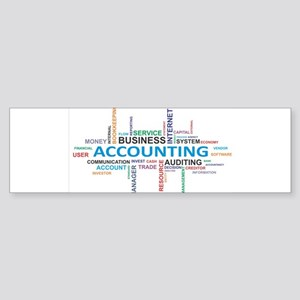 word cloud - accounting Bumper Sticker