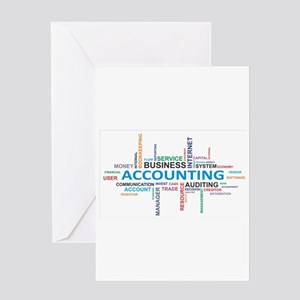 word cloud - accounting Greeting Cards