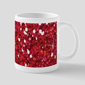 Red Sparkling Glitter Mugs