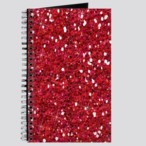Red Sparkling Glitter Journal