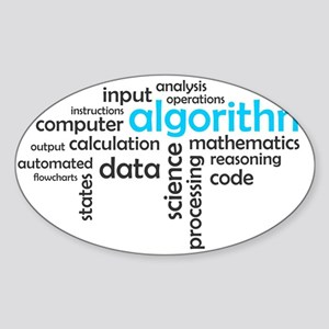 word cloud - algorithm Sticker
