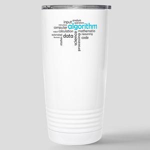 word cloud - algorithm Stainless Steel Travel Mug