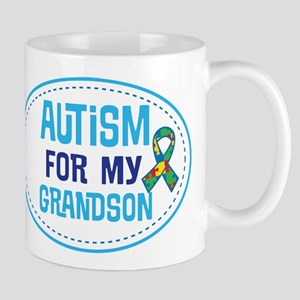 Autism For My Grandson support Mugs