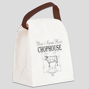 Vintage Chophouse Canvas Lunch Bag