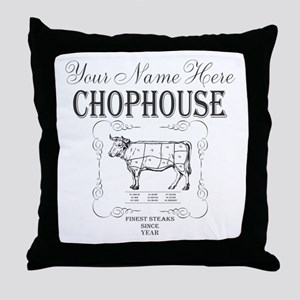 Vintage Chophouse Throw Pillow
