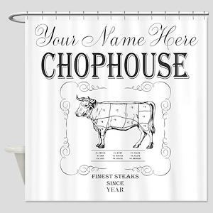 Vintage Chophouse Shower Curtain
