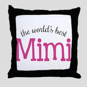 World's Best Mimi Throw Pillow