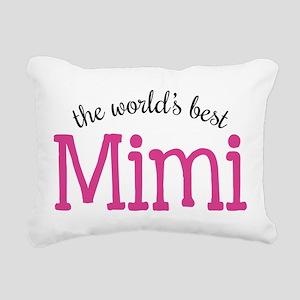 World's Best Mimi Rectangular Canvas Pillow