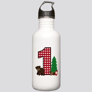 Woodland 1st Birthday Water Bottle