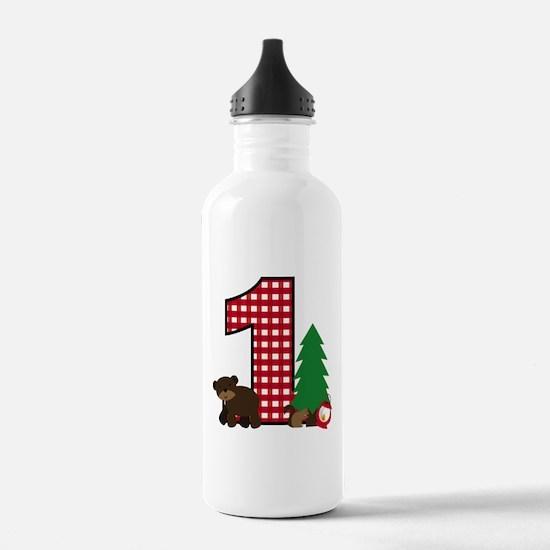 Woodland 1st Birthday Water Bottle