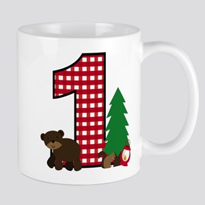 Woodland 1st Birthday Mugs