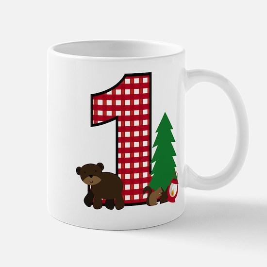 Woodland 1st Birthday Mugs