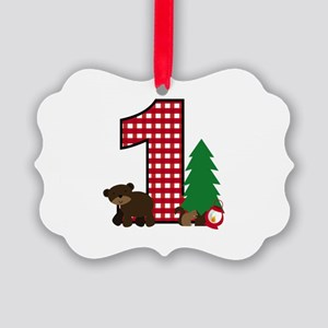 Woodland 1st Birthday Ornament