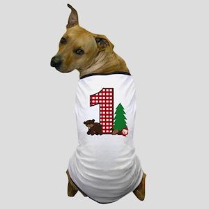 Woodland 1st Birthday Dog T-Shirt
