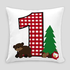 Woodland 1st Birthday Everyday Pillow