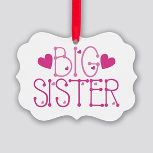 Heart Big Sister Ornament