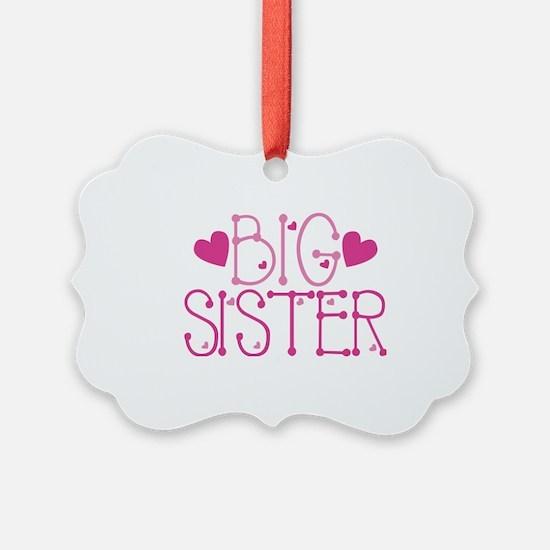 Heart Big Sister Ornament