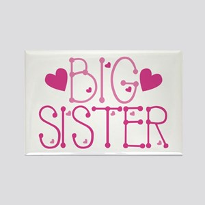 Heart Big Sister Magnets