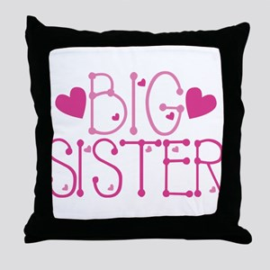 Heart Big Sister Throw Pillow